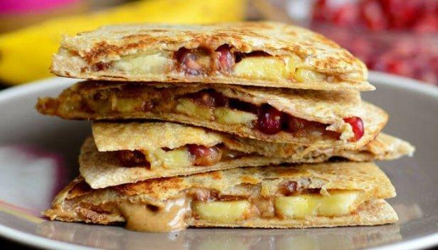 Almond-Butter-Pomegranate-Quesadilla-e1429158337627